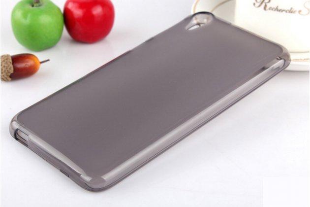 """Фирменная ультра-тонкая силиконовая задняя панель-чехол-накладка для HTC Desire 825 Dual Sim 5.5"""" черная"""