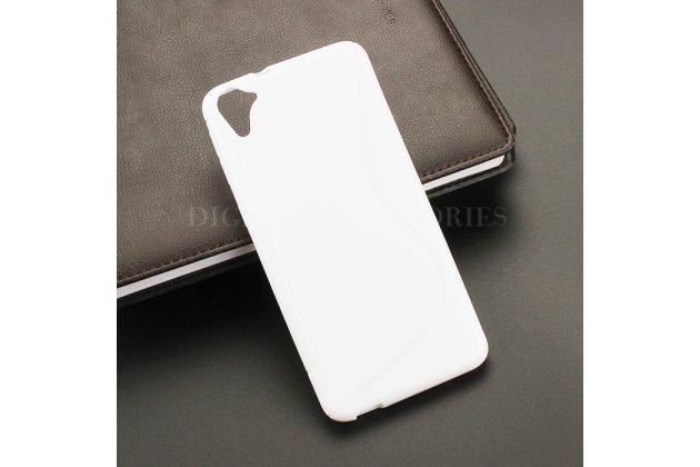 Фирменная ультра-тонкая полимерная из мягкого качественного силикона задняя панель-чехол-накладка для HTC Desire 826 белая
