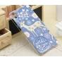 Фирменная пластиковая задняя панель-чехол-накладка с безумно красивым расписным рисунком Оленя в цветах для HT..