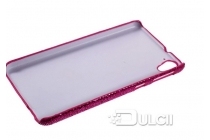 Фирменная роскошная модная задняя панель-чехол-накладка с блёстками для HTC Desire 826 малиновая