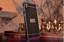 Фирменная металлическая задняя панель-крышка-накладка из тончайшего облегченного авиационного алюминия для HTC Desire 826 черная