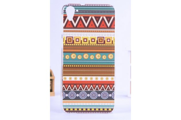 Фирменная роскошная задняя панель-чехол-накладка с безумно красивым расписным эклектичным узором на HTC Desire 826