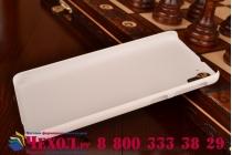 Фирменная задняя панель-крышка-накладка из тончайшего и прочного пластика для HTC Desire 826 белая