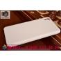 Фирменная задняя панель-крышка-накладка из тончайшего и прочного пластика для HTC Desire 826 белая..