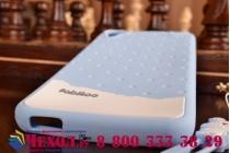 """Фирменная необычная уникальная полимерная мягкая задняя панель-чехол-накладка для HTC Desire 826 """"тематика Андроид в черничном шоколаде"""""""
