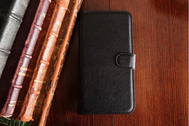 """Фирменный чехол-книжка для HTC Desire 828/ 828 dual sim 5.5""""с визитницей и мультиподставкой черный кожаный"""