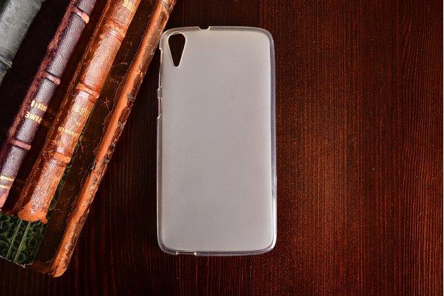 """Фирменная ультра-тонкая силиконовая задняя панель-чехол-накладка для HTC Desire 828/ 828 dual sim 5.5"""" белая"""