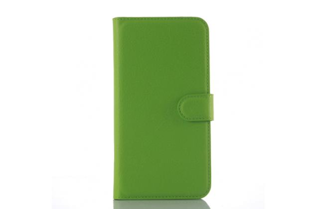 """Фирменный чехол-книжка для HTC Desire 828/ 828 dual sim 5.5"""" с визитницей и мультиподставкой зеленый кожаный"""