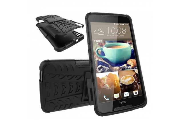"""Противоударный усиленный ударопрочный фирменный чехол-бампер-пенал для HTC Desire 828/ 828 dual sim 5.5"""" черный"""