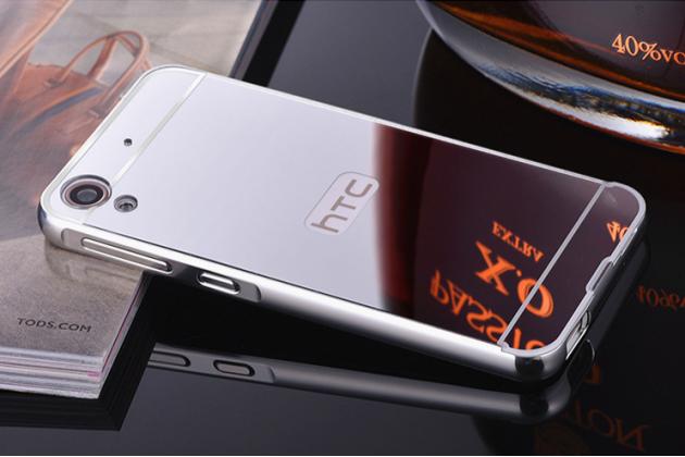 """Фирменная металлическая задняя панель-крышка-накладка из тончайшего облегченного авиационного алюминия для HTC Desire 830 Dual Sim 5.5"""" серебристая"""