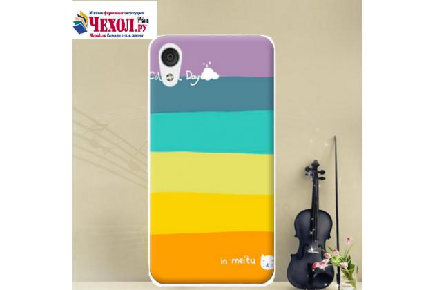 """Фирменная ультра-тонкая полимерная из мягкого качественного силикона задняя панель-чехол-накладка для HTC Desire 830 Dual Sim 5.5""""  тематика """"все цвета радуги"""""""