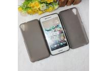 """Фирменная ультра-тонкая силиконовая задняя панель-чехол-накладка для HTC Desire 830 Dual Sim 5.5"""" черная"""