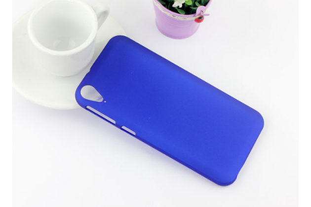 """Фирменная задняя панель-крышка-накладка из тончайшего и прочного пластика для HTC Desire 830 Dual Sim 5.5"""" синяя"""