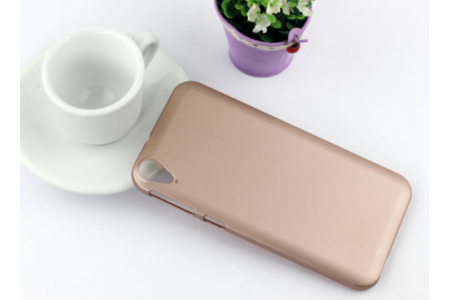 """Фирменная задняя панель-крышка-накладка из тончайшего и прочного пластика для HTC Desire 830 Dual Sim 5.5"""" золотая"""