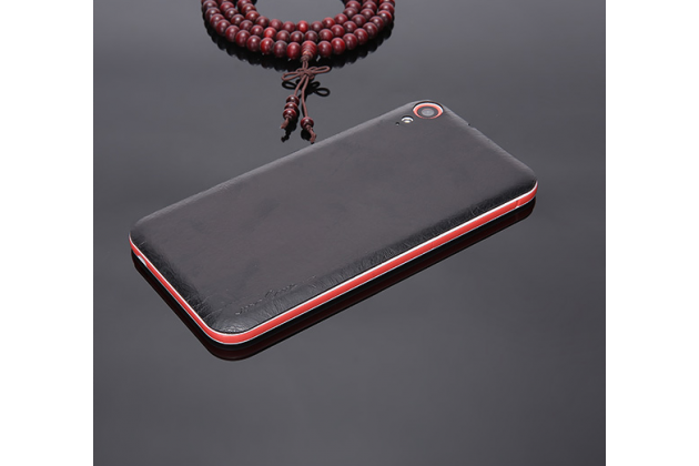 """Накладка из качественной кожи для замены задней крышки для HTC Desire 830 Dual Sim 5.5"""" черная"""