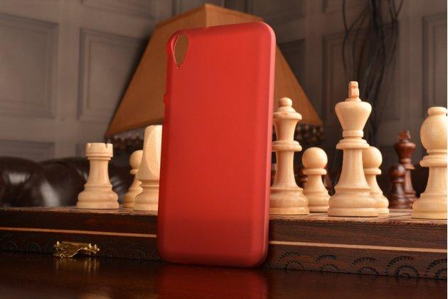 """Фирменная задняя панель-крышка-накладка из тончайшего и прочного пластика для HTC Desire 830 Dual Sim 5.5"""" красная"""