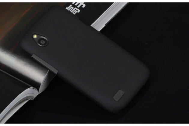 Фирменная задняя панель-крышка-накладка из тончайшего и прочного пластика на HTC Desire V T328w черная