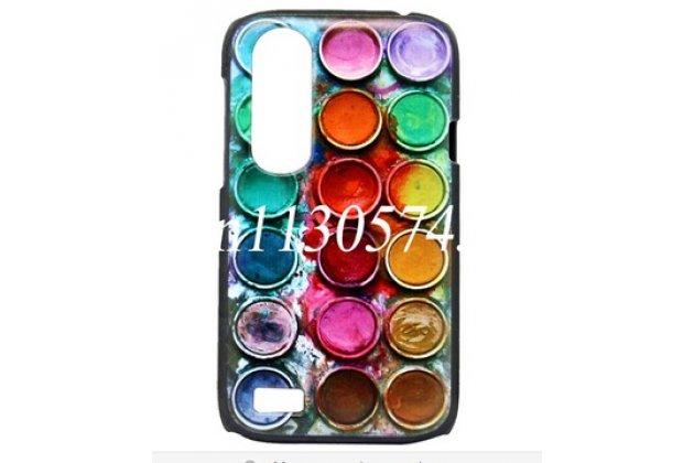"""Фирменная необычная уникальная пластиковая задняя панель-чехол-накладка для HTC Desire V T328w """"тематика все Краски Мира"""""""