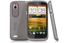 Фирменная ультра-тонкая полимерная из мягкого качественного силикона задняя панель-чехол-накладка для HTC Desire V T328w черная