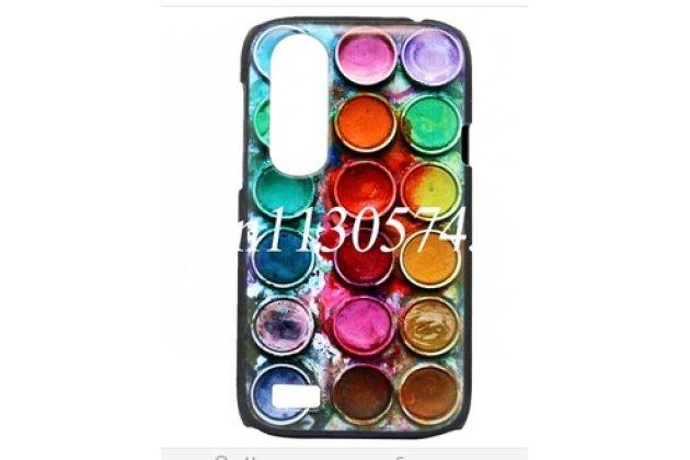 """Фирменная необычная уникальная пластиковая задняя панель-чехол-накладка для HTC Desire X T328e """"тематика все Краски Мира"""""""