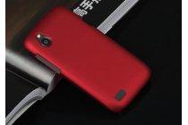 Фирменная задняя панель-крышка-накладка из тончайшего и прочного пластика для HTC Desire X T328e красная
