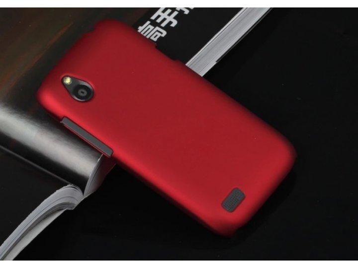 Фирменная задняя панель-крышка-накладка из тончайшего и прочного пластика для HTC Desire X T328e красная..