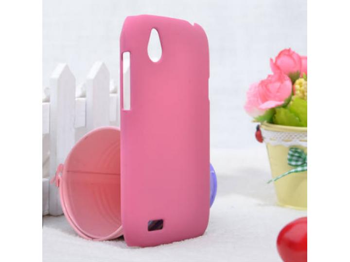 Фирменная задняя панель-крышка-накладка из тончайшего и прочного пластика на HTC Desire X T328e розовая..