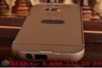 Фирменная металлическая задняя панель-крышка-накладка из тончайшего облегченного авиационного алюминия для HTC One M8/M8s/(M8) EYE золотая