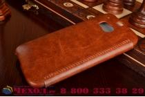 Фирменный чехол-книжка из качественной импортной кожи для HTC One M8/M8s/(M8) EYE коричневый