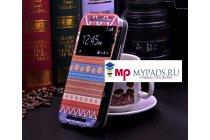 Фирменный чехол-книжка с безумно красивым расписным эклектичным узором на HTC One M8/M8s/(M8) EYE с окошком для звонков