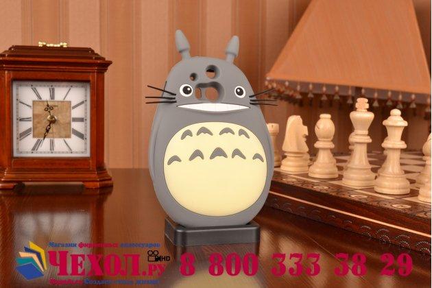 """Фирменная необычная мягкая задняя панель-чехол-накладка для HTC One M8/M8s/(M8) EYE  """"тематика толстая весёлая мышь"""""""