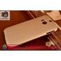 Фирменная задняя панель-крышка-накладка из тончайшего и прочного пластика для HTC One M8/M8s/(M8) EYE золотая..