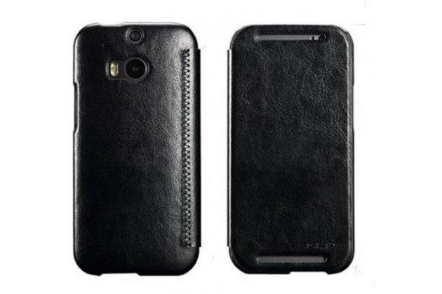 Фирменный чехол-книжка из качественной импортной кожи для HTC One M8/M8s/(M8) EYE черный