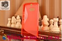 Фирменная ультра-тонкая полимерная из мягкого качественного силикона задняя панель-чехол-накладка для HTC One M8/ M8 Dual Sim/M8s/(M8) EYE красная