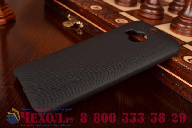 Фирменная задняя панель-крышка-накладка из тончайшего и прочного пластика для HTC One M9 Plus черная