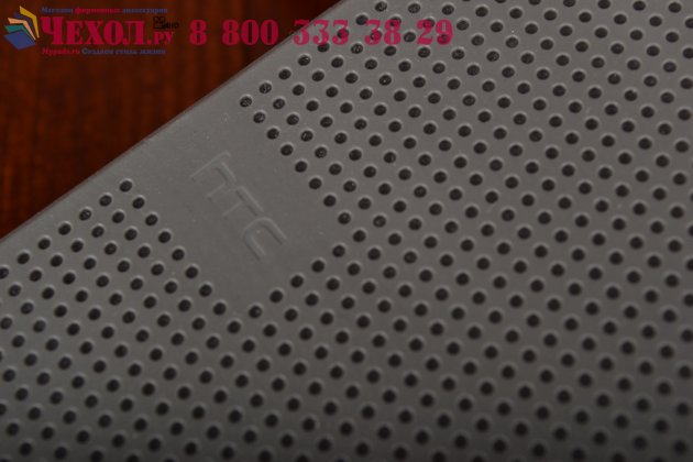 Фирменный оригинальный умный чехол Dot View flip case для HTC One M9 Plus черный