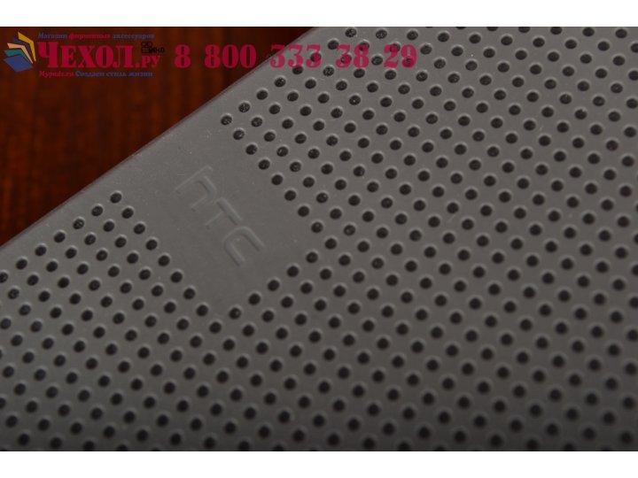 Фирменный оригинальный умный чехол Dot View flip case для HTC One M9 Plus черный..