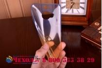 Фирменная из тонкого и лёгкого пластика задняя панель-чехол-накладка для HTC One M9 Plus прозрачная с эффектом дождя