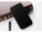 Фирменный чехол-футляр-книжка с визитницей для HTC One M9/ M9s черный кожаный..