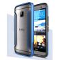 Фирменный чехол-бампер для HTC One M9/ M9s/ M9 Prime Camera Edition синий прорезиненный..