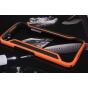 Фирменный оригинальный чехол-бампер для HTC One M9/ M9s оранжевый прорезиненный усиленный..