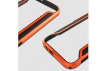 Фирменный оригинальный чехол-бампер для HTC One M9/ M9s оранжевый прорезиненный усиленный