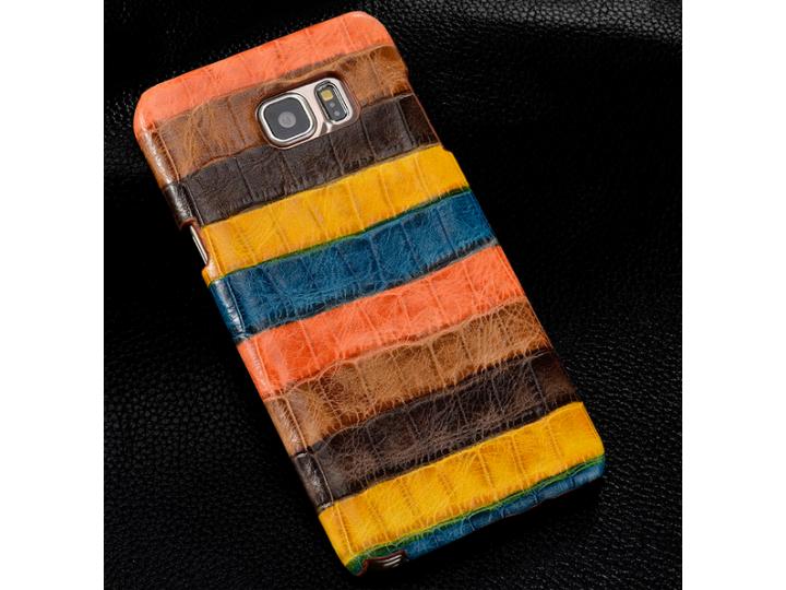 Фирменная неповторимая экзотическая панель-крышка обтянутая кожей крокодила с фактурным тиснением для HTC One ..