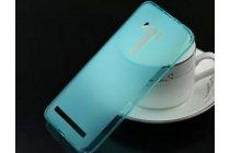 """Фирменная ультра-тонкая полимерная из мягкого качественного силикона задняя панель-чехол-накладка для HTC One ME Dual Sim / M9e 5.2"""" голубая"""