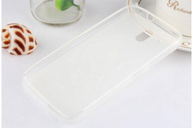 """Фирменная ультра-тонкая полимерная из мягкого качественного силикона задняя панель-чехол-накладка для HTC One ME Dual Sim / M9e 5.2"""" белая"""