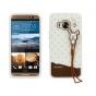 Фирменная необычная уникальная полимерная мягкая задняя панель-чехол-накладка для HTC One ME Dual Sim / M9e 5...