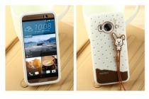 """Фирменная необычная уникальная полимерная мягкая задняя панель-чехол-накладка для HTC One ME Dual Sim / M9e 5.2"""" """"тематика Андроид в Белом Шоколаде"""""""