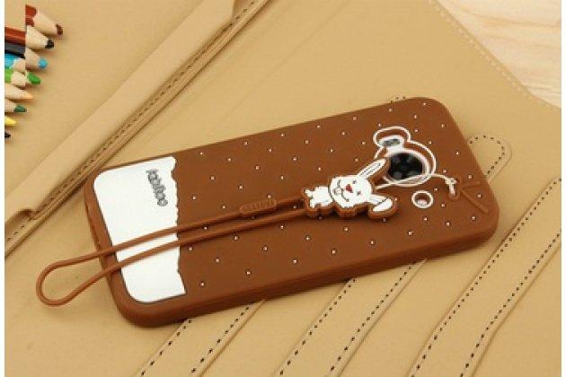 """Фирменная необычная уникальная полимерная мягкая задняя панель-чехол-накладка для HTC One ME Dual Sim / M9e 5.2""""  """"тематика Андроид в Темном  Шоколаде"""""""