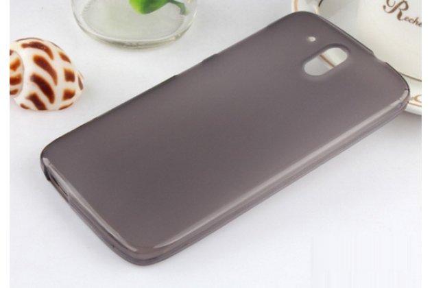 """Фирменная ультра-тонкая полимерная из мягкого качественного силикона задняя панель-чехол-накладка для HTC One ME Dual Sim / M9e 5.2""""  черная"""