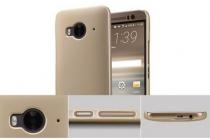 """Фирменная задняя панель-крышка-накладка из тончайшего и прочного пластика для  HTC One ME Dual Sim / M9e 5.2""""  золотая"""